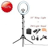 ขาย ซื้อ Dream 18 Rl 18 Outdoor Dimmable Photo Video Led Ring Light Kit Incl Professional Social Media Photography Studio Light 6Ft Stand Remote Heavy Duty Mount For Dslr Camera Fits Iphone 6S 6Plus 7 7Plus Android Smartphones Intl จีน
