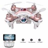 Drone ติดกล้องความละเอียดสูง โดรน จิ๋ว Drone รุ่น Cheerson Cx10Wd Pink รุ่นอัพเกรด กล้องชัดขึ้น มีรีโมทให้ในกล่อง ใช้ได้ทั้งสองฟังชั่นคือ รีโมทและ สมาทโฟน สมาทโฟน ควบคุมโดรน ผ่าน App เป็นต้นฉบับ