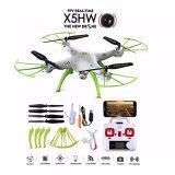 ซื้อ Drone ติดกล้องความละเอียดสูง โดรน เครื่องบินบังคับ ติดกล้อง รุ่น X5 Hw สีขาว เขียว เชื่อมต่อมือถือได้ รุ่นอัพเกรด ที่ถ่ายภาพนิ่งและวีดีโอ ภาพชัดขึ้นมากๆ และลอคความสูงได้เสถียร Drone ออนไลน์