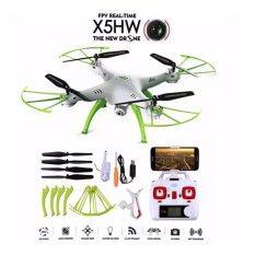 ซื้อ Drone ติดกล้องความละเอียดสูง โดรน เครื่องบินบังคับ ติดกล้อง รุ่น X5 Hw สีขาว เขียว เชื่อมต่อมือถือได้ รุ่นอัพเกรด ที่ถ่ายภาพนิ่งและวีดีโอ ภาพชัดขึ้นมากๆ และลอคความสูงได้เสถียร ออนไลน์ กรุงเทพมหานคร