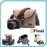 กระเป๋ากล้อง Dslr Mirrorless Travel Life M80 By 9Final พร้อมสายสะพายข้าง แนวเกาหลี Korean Style Canvas Camera Bag สีน้ำตาล กากี Brown ไทย