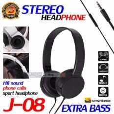 Dt Headphone Extra Bass  รุ่น J-08 หูฟังเเบบครอบหู ไฮไฟพร้อมไมโครโฟน .