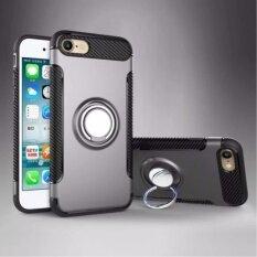 โปรโมชั่น Dtd เกราะเนื้อกรณีป้องกันการลื่นคาร์บอน Zfiber ทีพียู พีซีปกหลัง 360 องศาหมุนแหวนยึดเกาะ ที่วางขาตั้งสำหรับ Apple Iphone 6 พลัส 6 วินาที 5 5 นิ้ว