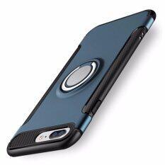 Dtd Luxury Hybrid เกราะกรณีสำหรับ Apple Iphone 7 Plus 5 5 นิ้วคาร์บอนไฟเบอร์กันลื่น Tpu Pc ปกหลัง 360 องศาหมุนแหวน Grip Stand สำหรับ Apple Iphone 7 Plus 5 5Inch ใหม่ล่าสุด