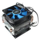 ซื้อ Dual Fan Cpu Mini Cooler Heatsink For Intel Lga775 1156 1155 Amd Am2 Am2ﰃ� Blue Black ใหม่
