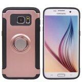 ขาย ซื้อ คู่ชั้นซิลิโคนฮาร์ดกลับเปลือก 360 หมุนแหวนจับยึดเกาะมีขาตั้งพับเก็บได้ กับวงกลมกลับแม่เหล็กสำหรับ Samsung Galaxy S7 ขอบ นานาชาติ ฮ่องกง