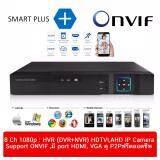 ราคา Dvr Hybrid Dvr Hvr 8 Ch 1080P จำนวน 8Ch 5 In 1 Ip Camera Tvi Cvi Ahd Analog Full Hd Smart Plus ใหม่