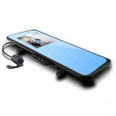 """E-Look กล้องติดรถยนต์ 4.3"""" Full HD 1080P หน้า+กระจกมองหลังในตัว รุ่น HS600B GDC Car DVR - Black"""