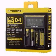 ขาย Eaze Nitecore D4 Lcd Screen Digicharger Charger For Aa Aaa 18650 14500 Battery Black Nitecore ออนไลน์