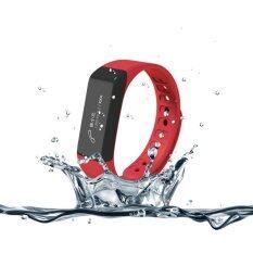 ECHO นาฬิกาสุขภาพอัจฉริยะ ติดตามกิจกรรม Bluetooth Smart Wristband Watch รุ่น I5 Plus Activity Tracker (Red)