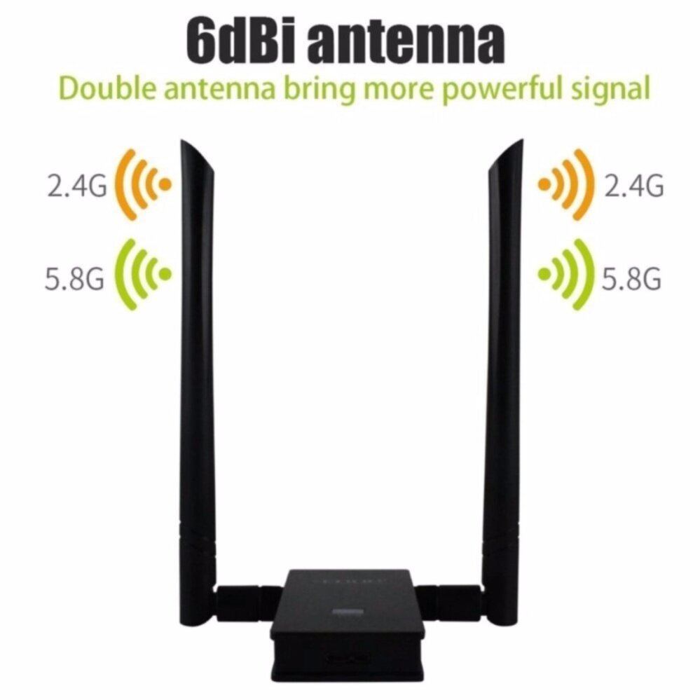 EDUP 802.11 AC1200Mbps Dual Band 2.4Ghz/5.8Ghz USB 3.0 Wireless Wifi Adapter IEEE 802.11 a/b/n/g/ac - intl