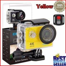 Eken H9R 4K สีเหลือง พร้อมรีโมท กล้องแอ็คชั่น แอ็คชั่นเเคม Action Camera กล้องติดหมวก ใน กรุงเทพมหานคร