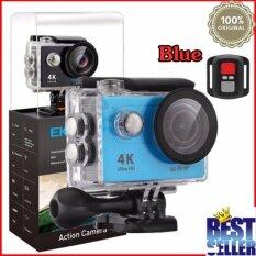 EKEN H9R 4K (สีฟ้า) กล้องแอ็คชั่น แอ็คชั่นเเคม  พร้อมรีโมท ACTİON CAMERA กล้องติดหมวก