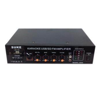 เครื่องขยายเสียง AC/DC เล่นUSB MP3 SDCARDรุ่น SUKE 3000