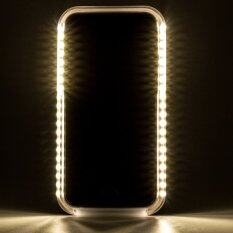 เคส  iPhone 6 6S  มีไฟ LED สำหรับเซลฟี่ (สีทอง)