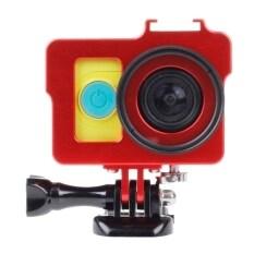 ขาย เคสโลหะป้องกันการตกกระแทกสำหรับกล้อง Xiaomi Yi Action Camera เลนส์uv Filter Len Capฝาปิดเลนส์ แดง ถูก