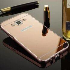 ขาย ซื้อ Elaike For Samsung J7 2 In 1 Luxury Aluminum Metal Mirror Pc Phone Cover Case Rose Gold Intl จีน