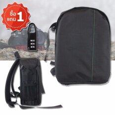 ขาย Elit กระเป๋ากล้อง เป้สะพายหลัง กันน้ำ Camera Bag Backpack Waterproof Dslr Case For Canon Nikon Sony Black Green แถมฟรี 1 ชุด Elit ถูก