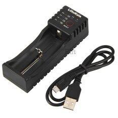 TML เครื่องชาร์จถ่าน แบตเตอรี่  จ่ายไฟผ่านช่อง USB อัตโนมัติ  Liitokala 18650 18490 18350 17670 17500 17355 16340 (RCR123) 14500 10440 26650 22650 26500 (Black)