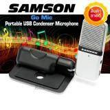 ซื้อ Samson Go Mic ไมค์อัดเสียงคอนเดนเซอร์ แบบ Usb สีเงิน ออนไลน์ ถูก
