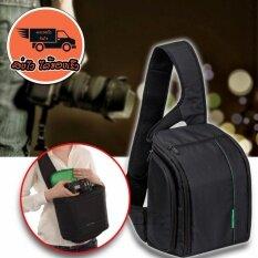 ราคา Elit กระเป๋ากล้อง เป้สะพายหลัง แบบสายเดี่ยว กันน้ำ Sling Camera Bag Backpack Waterproof รุ่น Cmr B2 Black Green