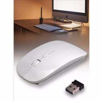 เม้าส์ไร้สาย 2.4G บลูทูธสำหรับเดสก์ท็อปโน้ตบุ๊คคอมพิวเตอร์พีซี-