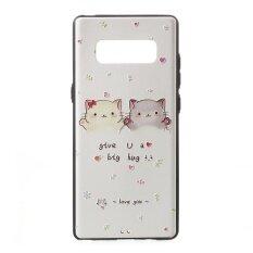 ราคา Embossed Tpu Gel Casing Cover For Samsung Galaxy Note 8 Adorable Cats Intl ที่สุด