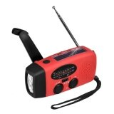 โปรโมชั่น Emergency Solar Hand Crank Dynamo Am Fm Wb Weather Radio Led Flashlight Charger Red Intl ถูก