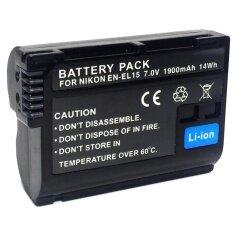 EN-EL15 แบตเตอรี่สำหรับกล้อง Nikon D7100 D610 D500 D7200 V1 D750 D810 D800E(black)