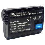 โปรโมชั่น แบตเตอรี่กล้อง รหัสแบต En El15 Enel15 1900Mah แบตกล้องนิคอน Nikon For Nikon D7000 D7100 D7200 Nikon1 V1 Nikon Battery Black By Win Store ถูก