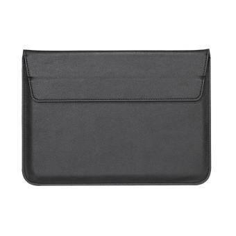 ซองจดหมายหนังสไตล์พียูกระเป๋าซองสำหรับ MacBook Air 13.3 นิ้ว/iPad Pro 12.9 - สีดำ - INTL-