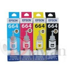 ขาย Epson น้ำหมึกเติมแท้ สำหรับ Epson L Series L100 L110 L120 L200 L210 L300 L350 L355 L550 L555 L1300 1ชุด 4สี C M Y Bk กรุงเทพมหานคร ถูก