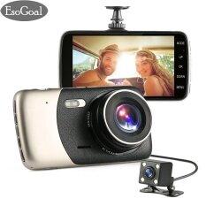 ซื้อ Esogoal 4 Dash Cam ด้านหน้าและด้านหลังเลนส์ Dual กล้อง Night Vision 1080 จุด 140 ° รถ Dvr บน Dash เครื่องบันทึกภาพ G Sensor กล้องวิดีโอการตรวจจับการเคลื่อนไหว