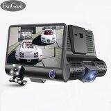 ราคา Esogoal กล้องติดรถยนต์ 3 เลนส์ กล้องหน้า กล้องภายในรถ และพร้อมกล้องหลัง จอ 4นิ้ว รุ่น C02 Hd 1080P 3 Lensvehicle Car Dvr Dash Cam Rearview Video Camera ใหม่
