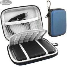 ราคา ราคาถูกที่สุด Esogoal กระเป๋าใส่ฮาร์ดไดร์ฟสำหรับพกพาเดินทางกันกระแทก ขนาด 2 5 นิ้ว สีฟ้า