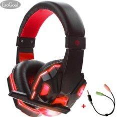 ขาย Esogoal หูฟังเกมมิ่ง หูฟัง Gaming Headset สีแดง ถูก