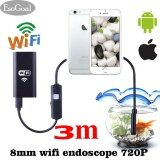ราคา Esogoal กล้องตรวจจับกล้อง Wifi Borescope 2 Megapixels Hd Snake Camera สำหรับ Android และ Ios Smartphone สีดำ 3 เมตร ใหม่ ถูก