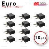 ขาย Euro Plug Power Adapter หัวแปลงปลั๊กไฟ ยุโรป อุปกรณ์เสริมเครื่องใช้ไฟฟ้า แพ็ค 10 ชิ้น ถูก