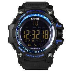 ส่วนลด Ex16 บลูทูธสมาร์ทนาฬิกาสนับสนุน Pedometer นาฬิกาปลุกนาฬิกาปลุกนาฬิกากันน้ำ นานาชาติ
