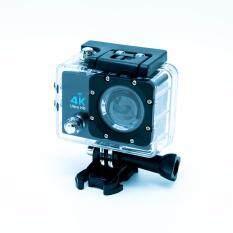"extreme actioncam กล้องกันน้ำ 4k 30fps 16M wifi หน้าจอ 2"" เคสกันน้ำ สีดำ ใหม่!เพิ่ม LED Flash"