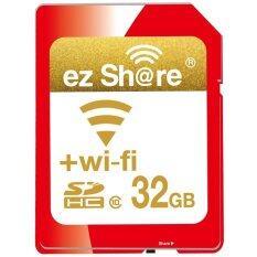 โปรโมชั่น Ez Share Wifi Sdhc 32Gb Class 10 Wireless Flash Memory Sd Card For Camera Dv Intl ใน จีน