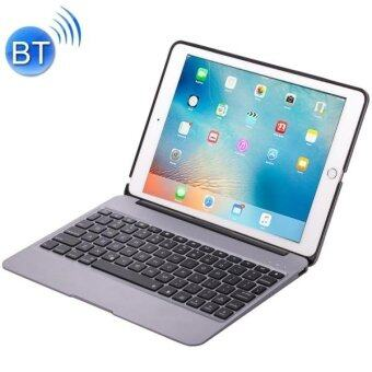 F06 For IPad Pro 9.7 Inch Portable Foldable Aluminium Alloy Wireless Bluetooth Backlight Keyboard(Grey) - intl
