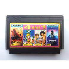 ใหม่ หายาก Famicom 4 in 1 การ์ดเกมย้อนยุค, Batman, Spider-Man, Adventure Island, Jungle Book (Nintendo, Dendy, NES) ตลับหมึก 8 บิต