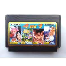 ใหม่ หายาก Famicom 4 In 1 การ์ดเกมย้อนยุค, Street Fighter, Super Contra, Ninja Gaiden Episode Ii, Double Dragon Ii (nintendo, Dendy, Nes) ตลับหมึก 8 บิต.