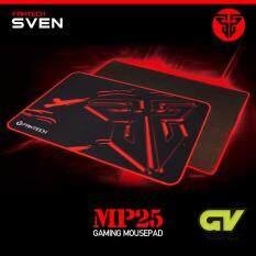 Fantech Gaming Mousepad แผ่นรองเมาส์แบบสปีด สำหรับเล่นเกมส์ ขนาด 25x21cm รุ่น Mp25 (สีดำ/แดง).