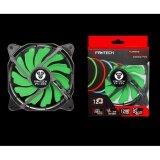 ซื้อ Fantech Fan Case พัดลมเคส ไร้เสียง พร้อมไฟ Led สำหรับคอมพิวเตอร์พีซี ขนาด 12Cm รุ่น Fc 122 สีเขียว ใหม่