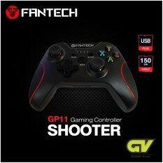 FANTECH รุ่น GP11 (SHOOTER) Gaming Controller ลายสีแดง จอยเกมมิ่ง ระบบ X-input พร้อมกิฟยางด้านข้างเพิ่มความกระชับมือ สำหรับ PC/PS3