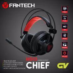 Fantech รุ่น Hg13 Chief Stereo Headset For Gaming หูฟังเกมมิ่ง แบบครอบหัว มีไมโครโฟน ระบบสเตริโอ กระหึ่ม รอบทิศทาง มีไฟรอบหูฟัง ปรับเสียงได้ ด้วยคอนโทรลเลอร์ สำหรับเกมแนว Fps Tps (สีดำ) By Gadget Villa.