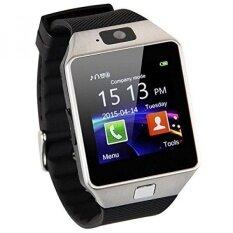 ซื้อ Fashion Bluetooth Smart Watch Smartwatch Gsm Sim Card With Camera For Android Ios Silver Intl Dz09 ถูก