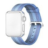 ทบทวน ที่สุด Fashion Colored Woven Nylon Fabric Replacement Band Strap Bracelet Wrist Belt For Apple Watch Iwatch 42Mm Lake Blue Intl